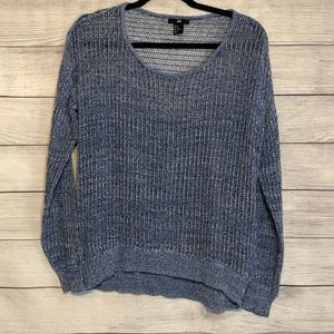 H&M Loose Fit Sheer Hi Low Sweater